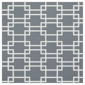 White rectangle geometric fabric