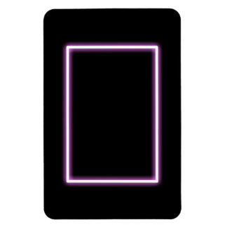 White Rectangle Glowing Pink Magnet