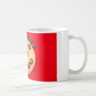 White-red 11 oz Classic Mug with Smiling face