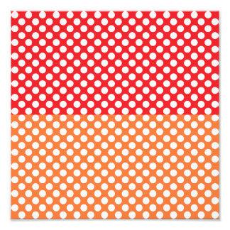 White Red and Orange Polka Dot Art Photo