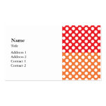 White, Red and Orange Polka Dot Pack Of Standard Business Cards
