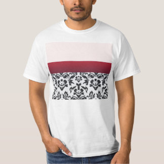 White Red Damask special gift Tshirts