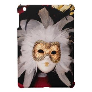 White / Red / Gold / Black Venetian Mask iPad Mini Cover