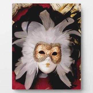 White / Red / Gold / Black Venetian Mask Plaque