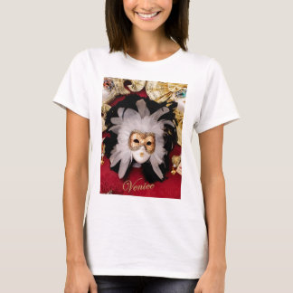 White / Red / Gold / Black Venetian Mask T-Shirt