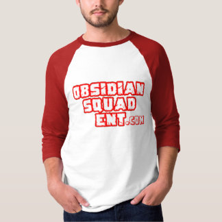White&Red Obsidan Squad Ent Site Logo T-Shirt