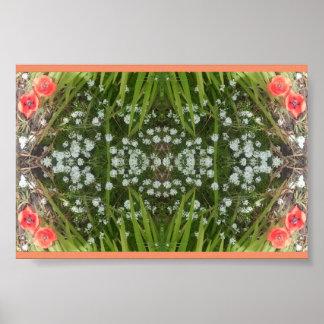 White & Red (Poppy) Flower Value Poster V Small