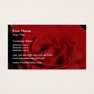 White Red velvet flowers Business Card
