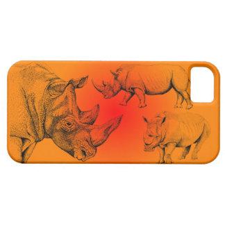 White Rhino at sunset  Iphone case