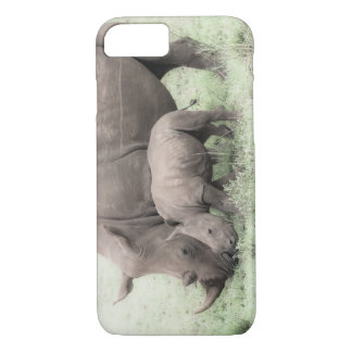 White Rhino & Baby Phone Case