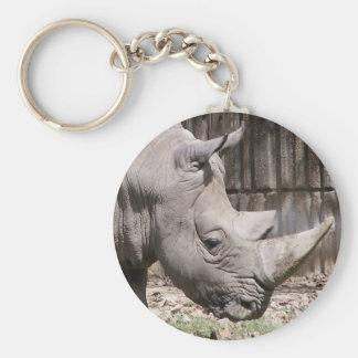 white rhino key chain