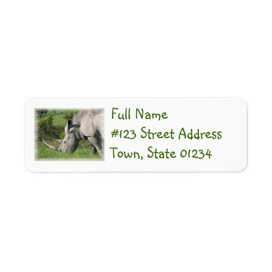 White Rhino Mailing Label Return Address Label