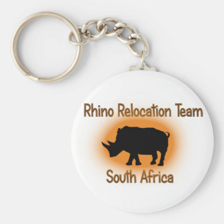 White Rhino wildlife key ring