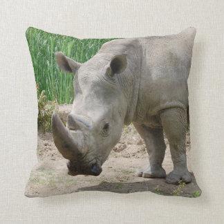 White Rhinoceros Ceratotherium Simum Cushion