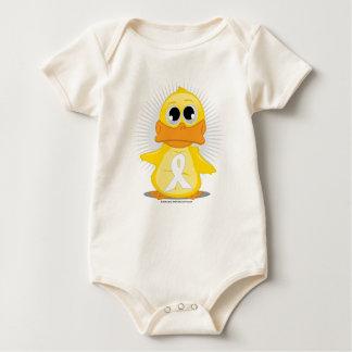 White Ribbon Duck Baby Bodysuit
