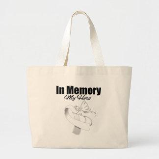 White Ribbon In Memory of My Hero Bag