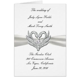 White Ribbon Silver Swans Program Card