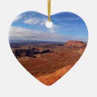 White Rim Overlook at Canyonlands National Park Ceramic Heart Decoration