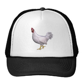 White Rooster Hat