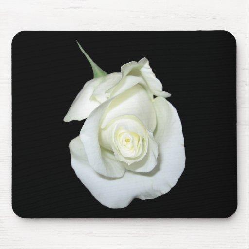 White Rose #1 Mousepads