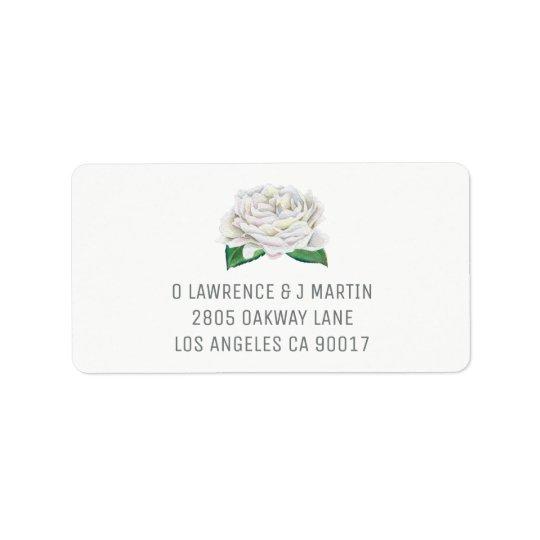 White Rose Address Labels