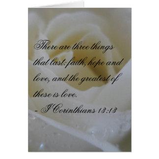 White Rose Bible Verse Wedding Greeting Greeting Card