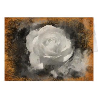White Rose Blank Greeting Card