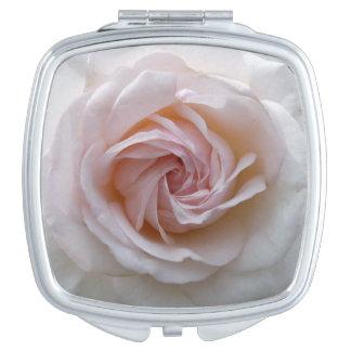 White rose blossom mirror for makeup