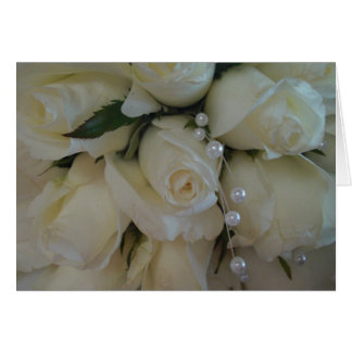 white rose bouquet card