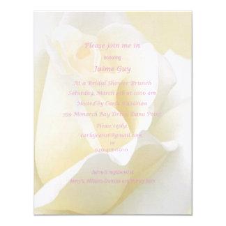 White Rose Bridal Shower Invitation