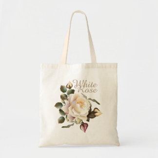 White Rose Budget Tote Bag