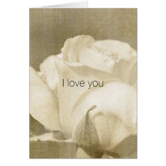 White Rose Card
