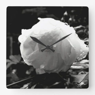 White Rose Clock