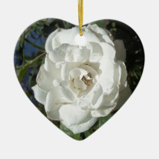White rose ornaments