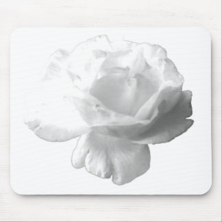 White Rose Design Mouse Pad