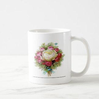 White Rose Design Mugs