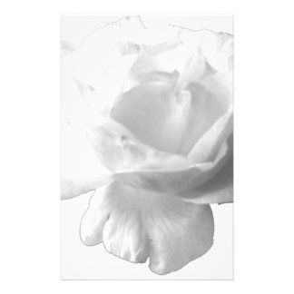 White Rose Design Custom Stationery