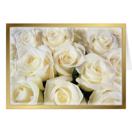 White Rose Elegance Card