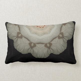 White Rose Envelope Kaleidoscope Throw Pillow