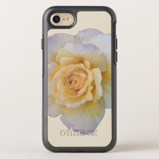 White Rose Floral Flower OtterBox Symmetry iPhone 8/7 Case