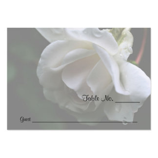 White Rose Floral Wedding Table Place Cards Business Cards
