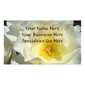 White Rose Flower Business Cards custom Yellow