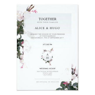 White Rose Flowers Love Save The Date Wedding Card