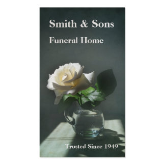 White Rose Funeral Home Business Card