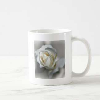 White Rose Garden Flower Beautiful Basic White Mug