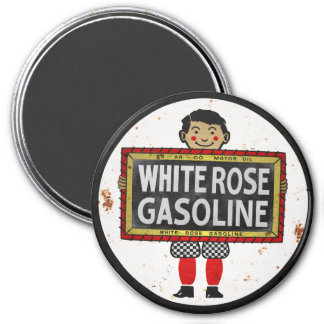White Rose Gasoline sign rusted version Magnet
