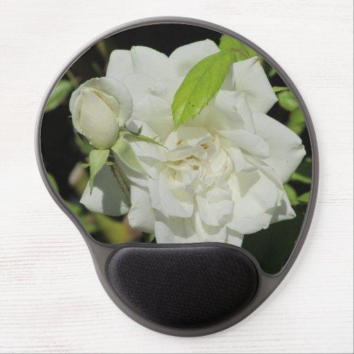 White Rose Gel Mousepad