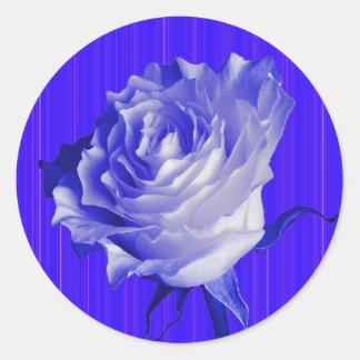 White Rose Indigo Purple Gifts by Sharles Round Sticker