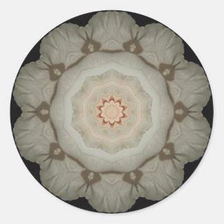'White Rose Kaleidoscope' Sticker
