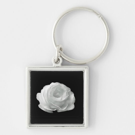White Rose Key Ring